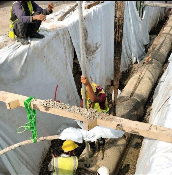 أمانة جدة تنجز 38 بالمائة من مشروع تصريف الأمطار بطريق الحرمين